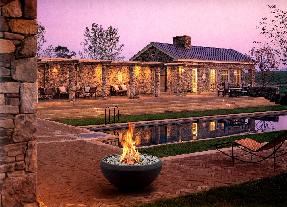 Hot Sale Stainless Steel Ethanol Burner Freestanding Round Garden Fireplace