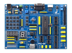 PIC Microcontroller Learning Development Board PIC-EK with PIC16F74 Microcontroller Routines