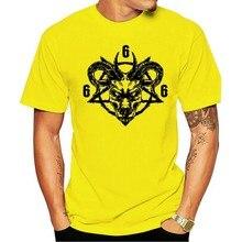 Pentagrama satanás lucifer 666 homens premium t camiseta 2021 lazer moda 100% algodão