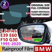 Dla BMW serii 5 BMW E39 E60 F10 G30 pełna pokrywa Anti Fog Film lusterko wsteczne przeciwdeszczowe akcesoria 520i 525i 530i 535GT 520d M tanie i dobre opinie JIIYE Words Włókno węglowe Klej naklejki Jest dostarczana 4 3inch 1 5inch 4inch Inne BMW 5 Series 4 2inch