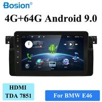 PX6 System 4G RAM+64G ROM For BMW E46 1999 2006 Car Radio GPS Navigation Audio Video Stereo Tape Recorder Android 9.0 HDMI WIFI
