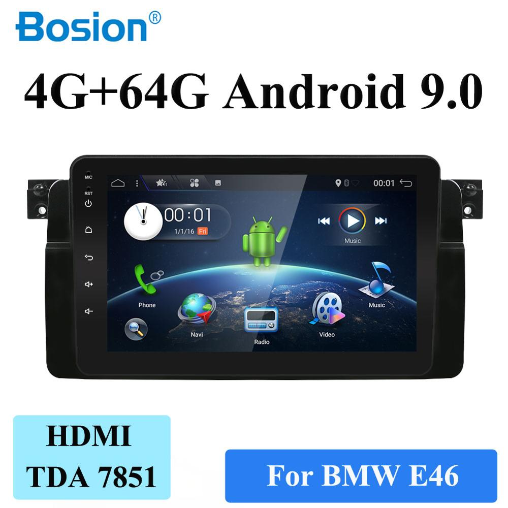 PX6 System 4G RAM+64G ROM For BMW E46 1999-2006 Car Radio GPS Navigation Audio Video Stereo Tape Recorder Android 9.0 HDMI WIFI