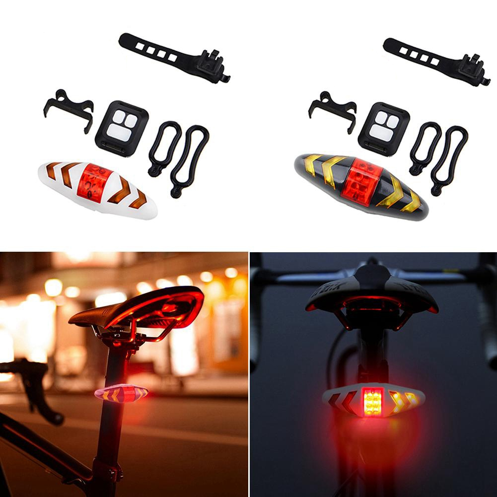 Bicycle Turn Signal Wireless Remote Mountain Bike Taillights Cycling Lights Flashing Headlights White