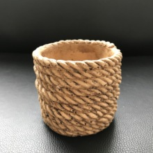 Rope Shape Handmade Cement Flowerpot Silicone Mold for Diy Concrete Pot Molds