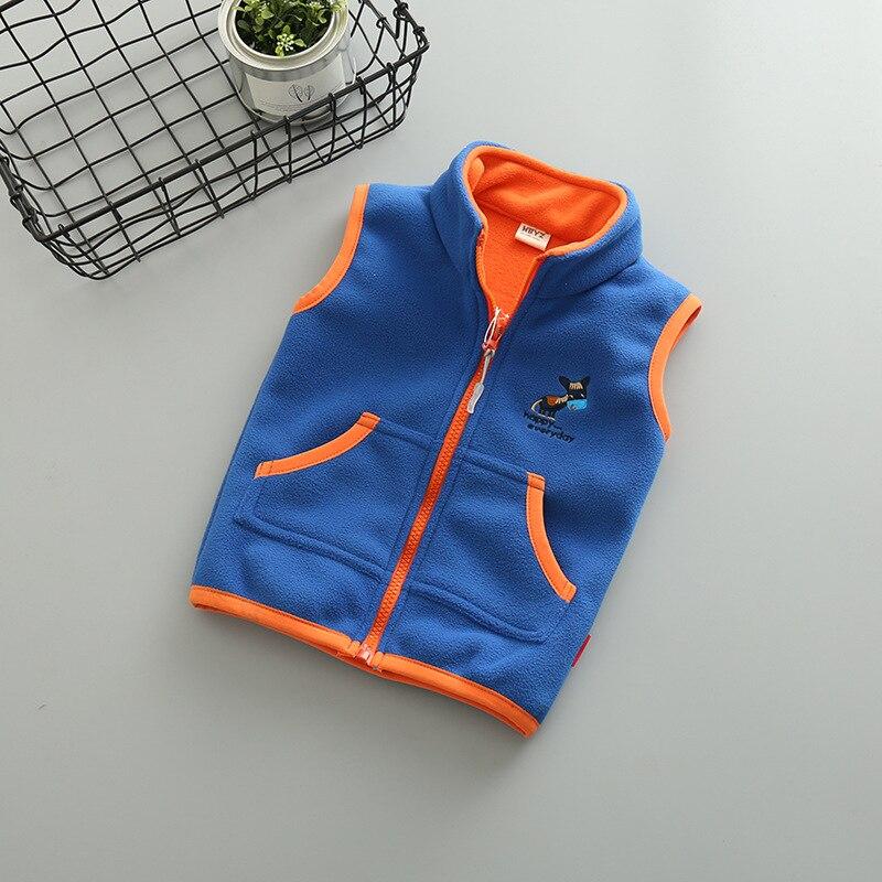 Sundae Angel Vest For Girl Waistcoat Stand Collar Children Boy Embroidery Donkey Pattern Polar Fleece Outerwear Coats Kids 2-14Y 6