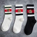 Уличный стиль трендовые носки с вышивкой голова тигра для мужчин и женщин цветные подходящие полосатые носки европейские и американские сп...