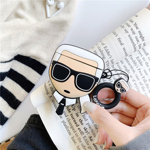 For AirPod 2 Case 3D Cool Glass Man Cartoon Soft Silicone Wireless Earphone Cases For Apple Airpods Case Cute Cover Funda for airpods pro case 3d little bear cartoon soft silicone wireless earphone cases for apple airpod 3 case cute cover funda