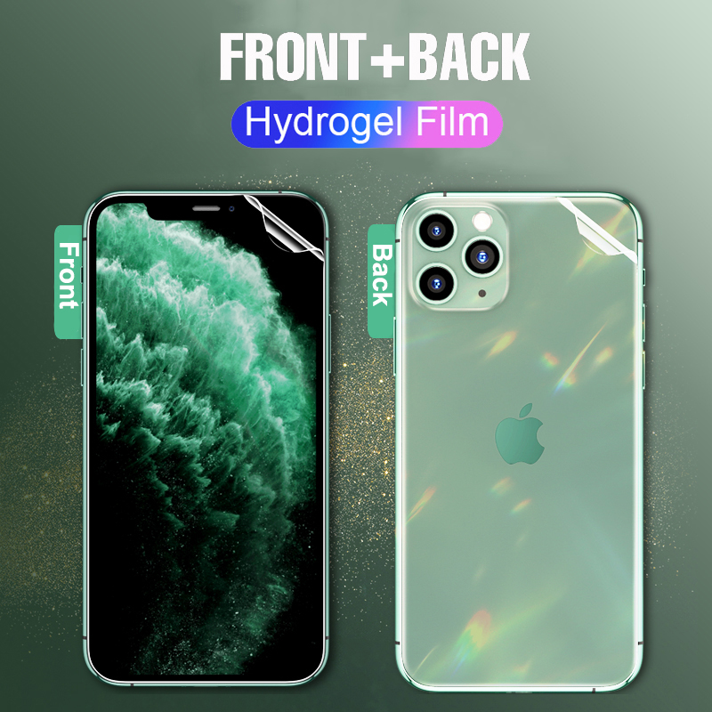 Front+Back Lamorniea 21D Screen Protector For IPhone 11 Pro Max 11Pro Max Hydrogel Soft Film For Apple IPhone XS Max 6 7 8 Plus