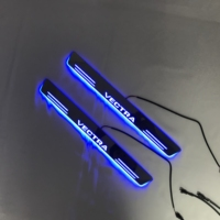 Acrylic door sill plate strip with led decorative welcome light door scuff for Opel vectra,2pcs