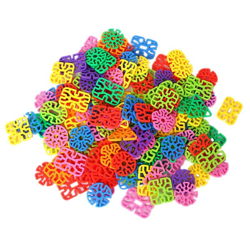50Pcs Geometry Triangle Snowflake Flake Building Blocks Plastic Splicing Toy Boys Girls Chidren's Educational Toys Birthday Gift