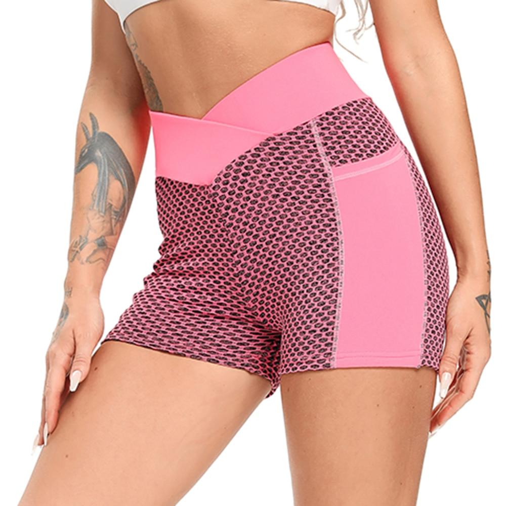 Women Mesh Push Up Gym Shorts 22