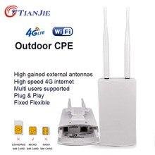 Tianjie cpe905 outerdoor à prova dwaterproof água 150mbps inteligente 4g roteador casa hotspot rj45 wan lan wifi cobertura modem antena externa cpe