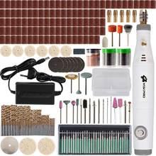 18V חריטה עט מיני תרגיל מתכוונן מהירות כלי עם שחיקה Accessoraies סט משולב מיני חריטת עט Dremel כלים