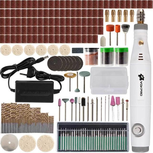 18V Engraving Pen Mini Drill Adjustable Speed Tool With Grinding Accessoraies Set Multifunction Mini Engraving Pen Dremel tools