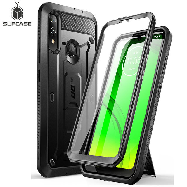 SUPCASE For Moto E6 Plus Case (2019 Release) UB Pro Full Body Rugged Holster Protective Back Case with Built in Screen Protector