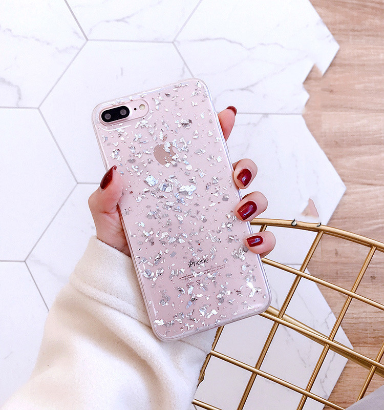 H46fb1cb29eb44421adb6c0b5b0d4226dc - GIMFUN Star Bling Glitter Phone Case for Iphone 11 Pro Max Clear Back Love Heart tpu Case Cover for Iphone Xr X 7 6 8 Plus 5s SE