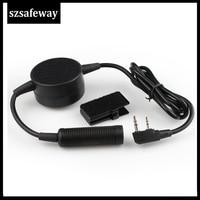Waterproof Big PTT Cable For Z Tactical Headset ComtacII H50 SORDIN H60 HD03 Earpiece For Kenwood Baofeng UV-5R TK3160TK-3170