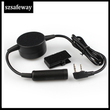 Waterproof Big PTT Cable For Z Tactical Headset ComtacII H50 SORDIN H60 HD03 Earpiece For Kenwood Baofeng UV 5R TK3160, TK 3170