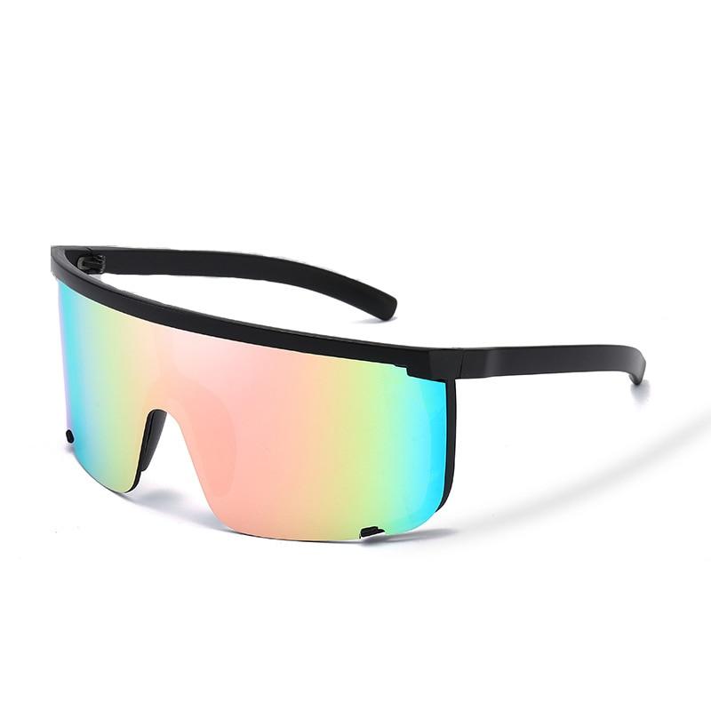 Sport Sunglasses men onepiece 2020 Women Oversize Mask Shape Shield Visor Sunglasses Women Sexy Fashion Men