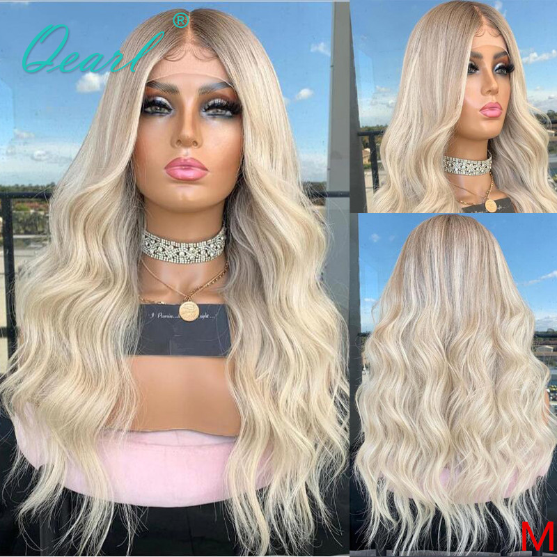 Ash Blonde Lace Front Wig 13x6 Human Hair