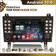 Erisin ES8740S 4GB RAM+64GB ROM Car DVD Player For Mercedes Benz SLK R171 2004 2011 Android Auto 10 GPS Navi BT OBD2 WiFi DSP SD