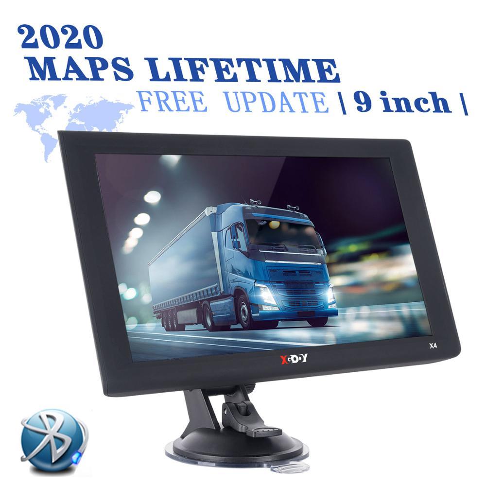 Автомобильный GPS-навигатор Xgody X4, 9 дюймов, Bluetooth AVIN Navitel 2020, Карта Европы и Америки, спутниковая навигация, gps-навигаторы для грузовиков, FM-ради...