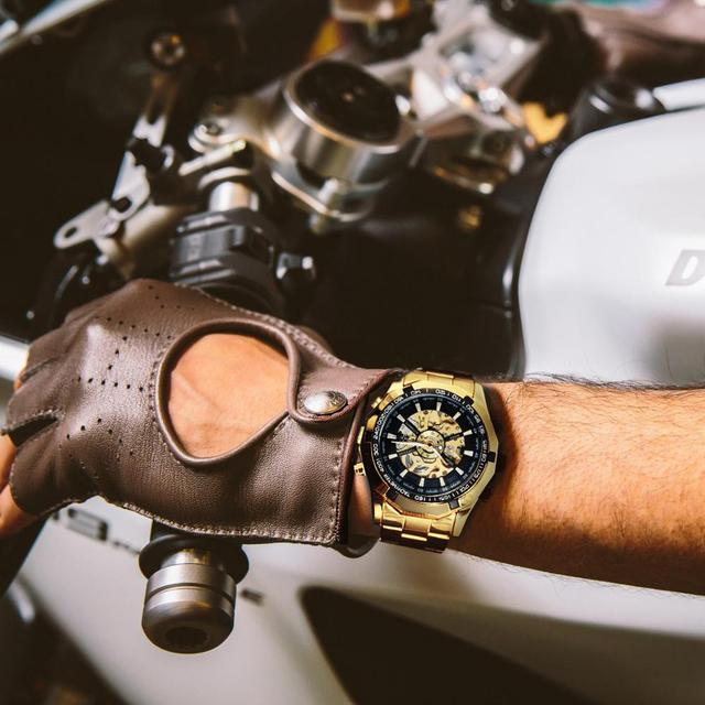 Winner Watch Men Skeleton Automatic Mechanical Watch Gold Skeleton Vintage Man Watch Mens Watches Top Brand Luxury часы мужские 6