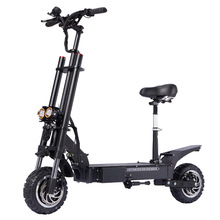 Janobike electric scooter double drive with seat 60V/5600W adult fast folding 11 inch road tire city