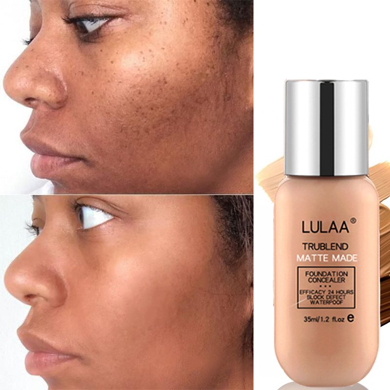 LULAA BB CC Cream Foundation Cream Long-lasting Face Concealer Liquid Air Base Cushion Sun Block Natural Makeup Korean Cosmetic image