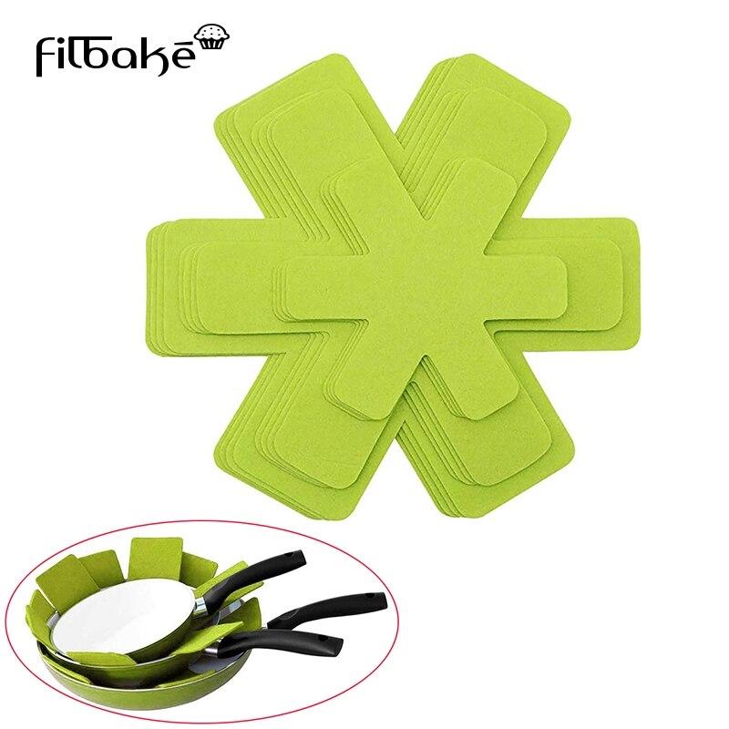 Filbake 6Pcs Placemat Pot Pan Protector Separator Mat Table Premium Divider Pad Heat Insulation Pan Pads Protect Cookware Tools(China)