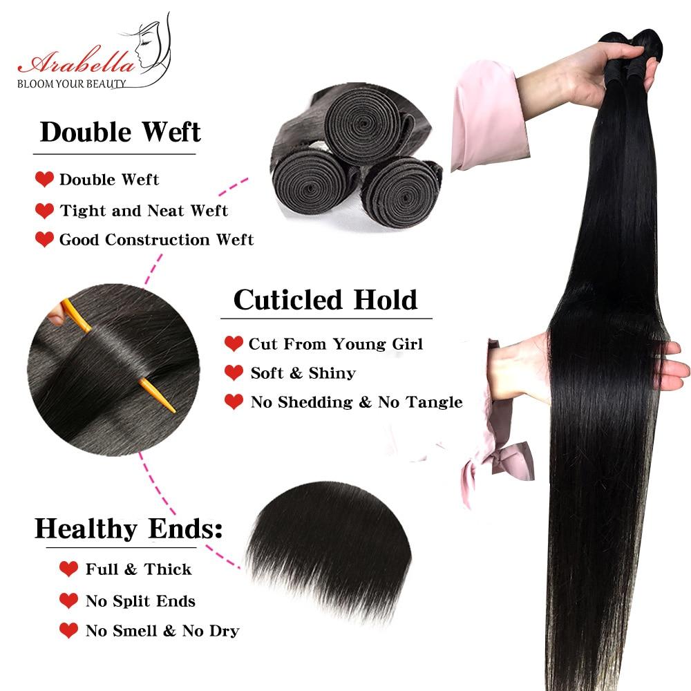 Transparent 4x4 Lace Closure With   Bundles  Straight Hair 3 Bundles With HD Closure Arabella  Hair 2