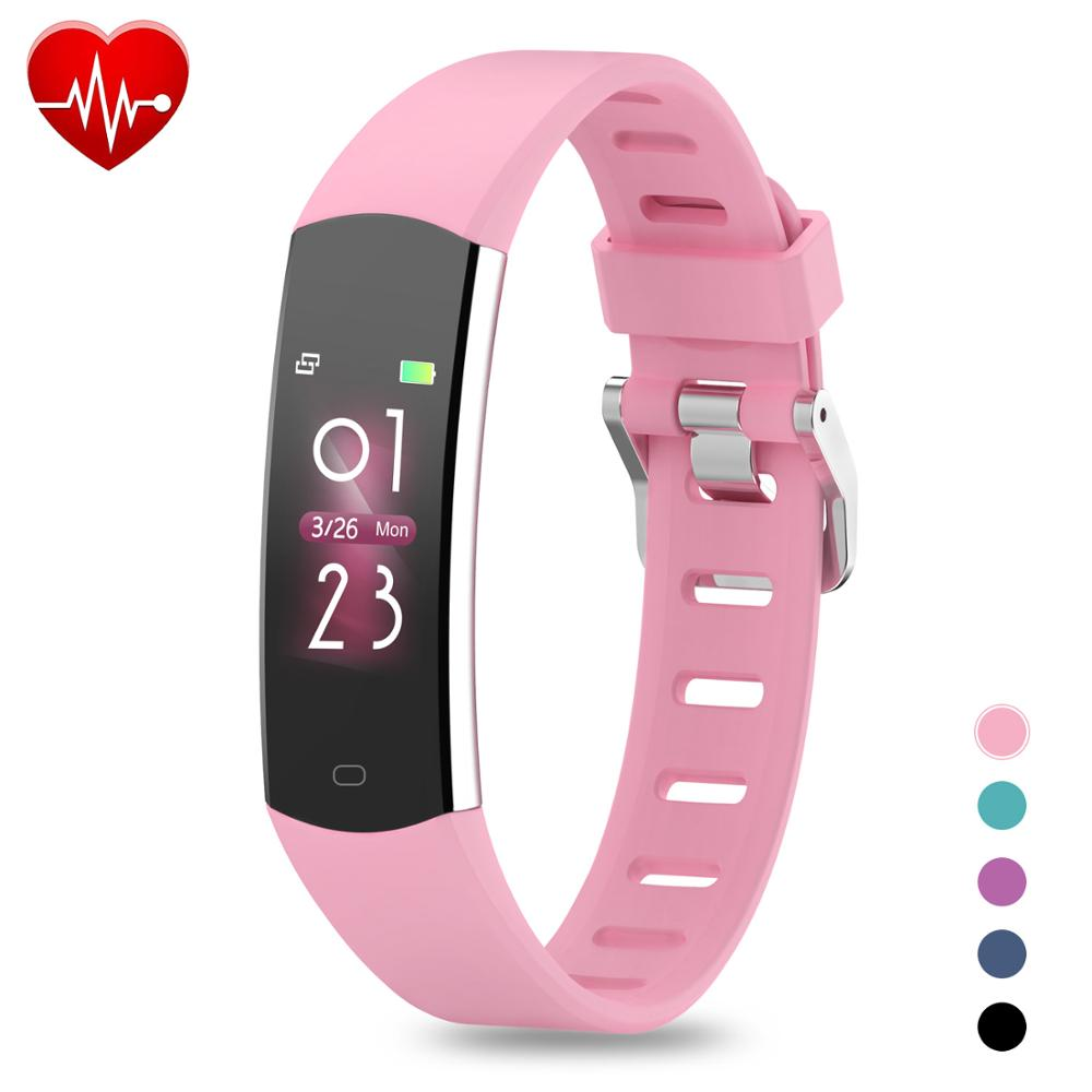 Kids Smart Bracelet Heart Rate Blood Pressure Pedometer Fitness Activity Tracker IP68 Waterproof Smart Watch Men Women Wristband image