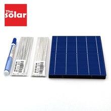 Diy Zonnecel 156*156 Mm 383W 96W 52W 33W 27W 18W Solar charger Kit Polykristallijne Zonnepaneel Tabben Draad Busbar Flux Pen