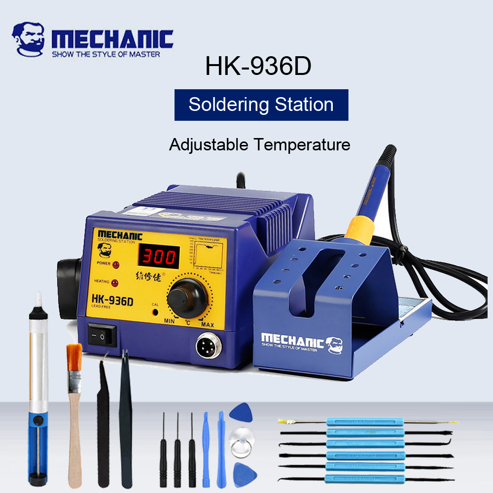 MECHANIC HK-<font><b>936D</b></font> <font><b>Soldering</b></font> Iron <font><b>Soldering</b></font> <font><b>Station</b></font> <font><b>Digital</b></font> Display Adjustable Desoldering <font><b>Station</b></font> Phone Repair Welding Machine image