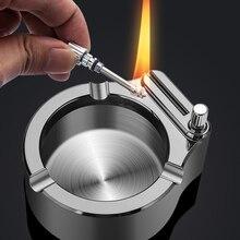 Metal Ashtray Lighter Smokeless Cigarettes Tobacco Kerosene-Cigars Boyfriend Gift Retro