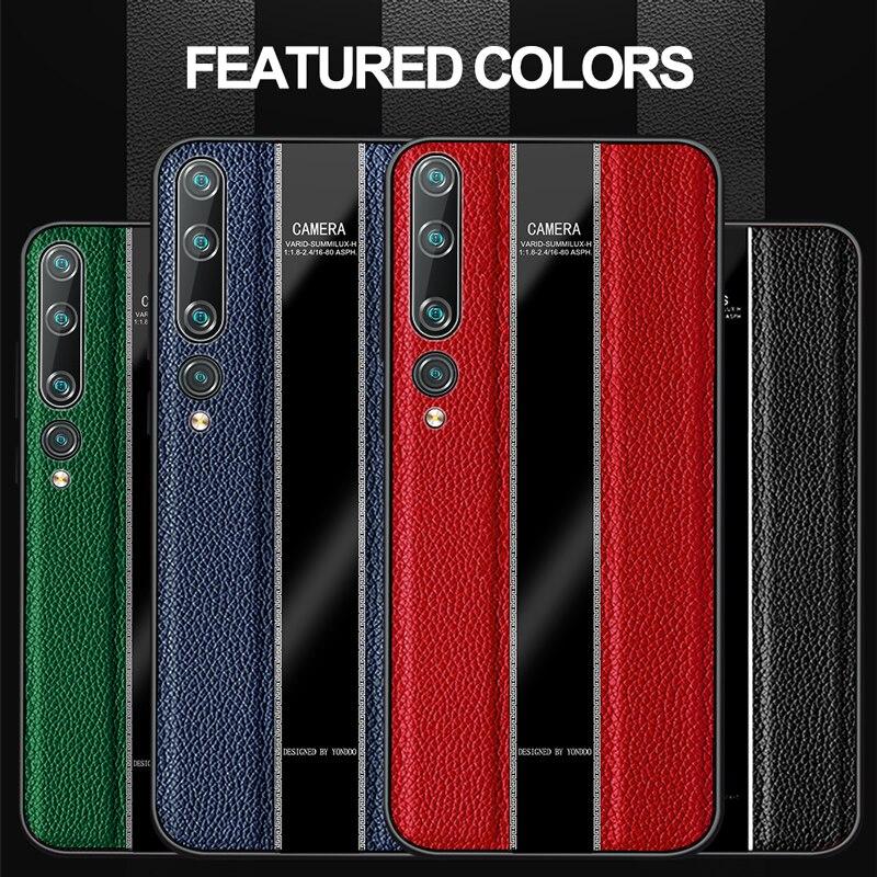 GRMA Original Genuine Leather Cover for Redmi Note 9S 9 Pro Max Case Silicone Edge Shockproof Cover for Xiaomi Mi 10 Pro Case