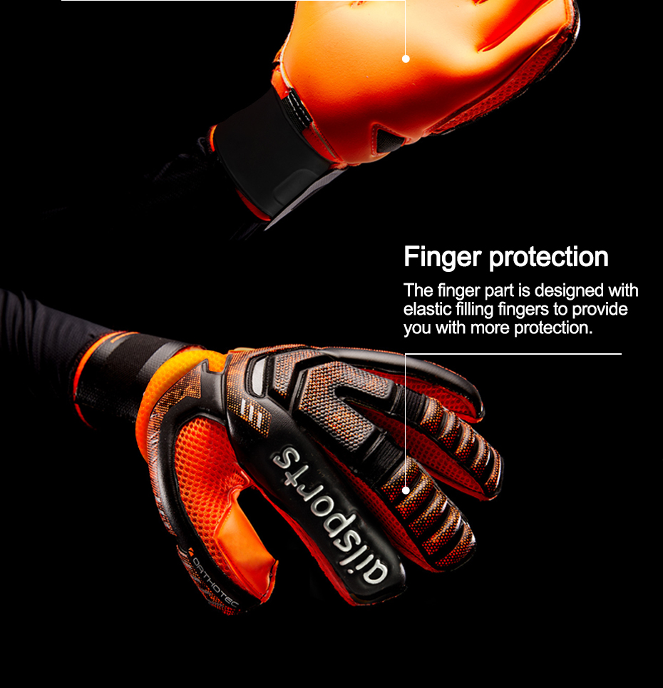 Professional Goalkeeper Gloves With Finger Protection 3