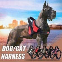Pets Dog Harness Vest Reflective Tape Breathable Mesh Cat Pet Adjustable Collar Accessories