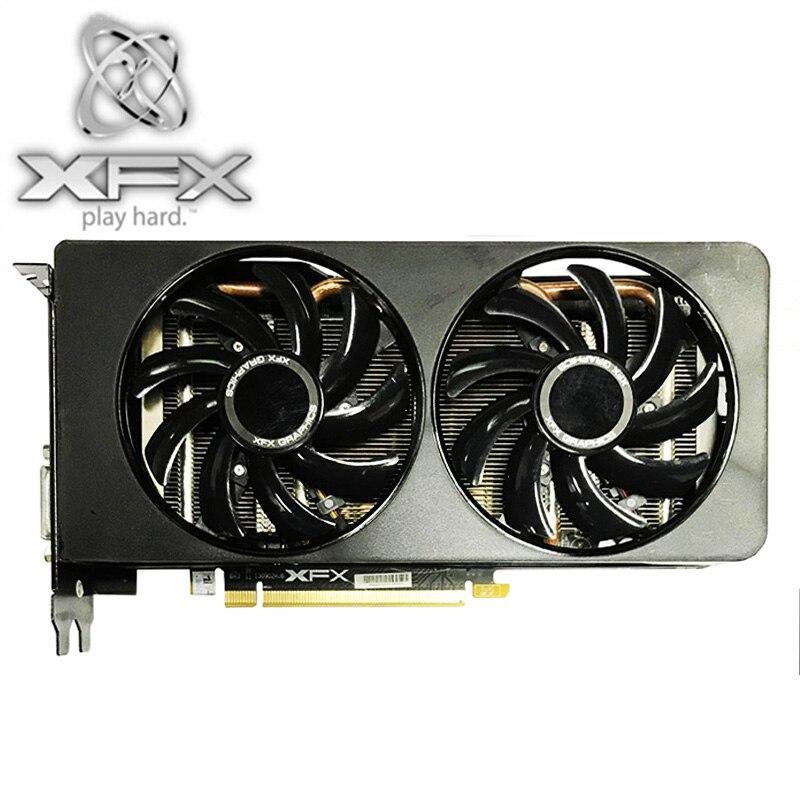 Видеокарта XFX R9 370 2 Гб, 256Bit GDDR5 для AMD R9 300 серии карт R9370 2 Гб HDMI DVI Radeon R9 370 1024SP, б/у-1