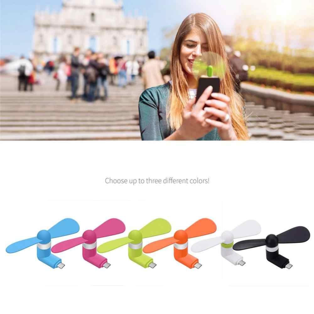 Przenośny Mini telefon komórkowy typu C wentylator wyciszenie wentylatora gadżet USB wentylator dla systemu Android Gag zabawka lato chłodzenia gadżety