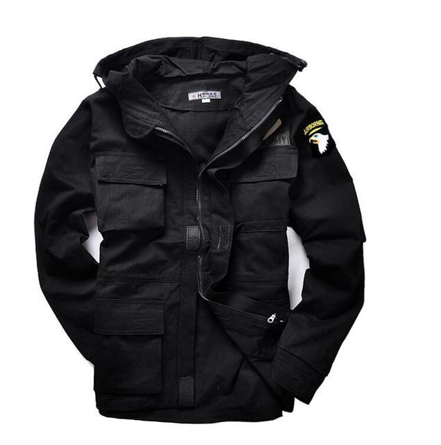Mundur wojskowy męska M65 trencz mężczyzna stałe kamuflaż watowe 101st Airborne Force kurtka polarowa płaszcz mężczyźni odzież tanie tanio