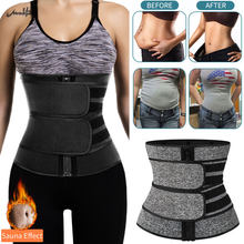 Women Slimming Sheath Waist Trainer Tummy Reducing Shapewear Belly Body Shapers Sweat Strips Sauna Corset Workout Trimmer Belts(China)