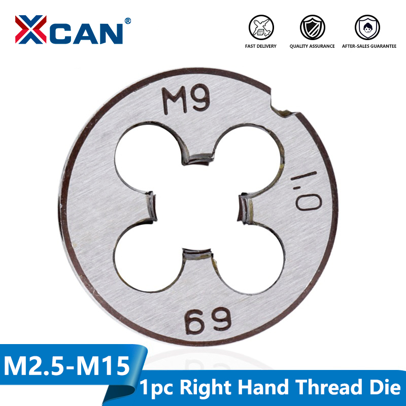 XCAN 1pc M2 M3 M4 M5 M6 M7 M8 M9 M10 M12 M14 M15 M16 Right Hand Thread Die Metal Threading Tools Metric Thread Die