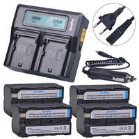 4 шт., 5200 мАч, литий-ионный аккумулятор с NP-F750 + ЖК-дисплей, быстрое зарядное устройство для Sony NP F970 F960, NP-F770, ccd-tr917, ccd-tr940, ccd-trv101