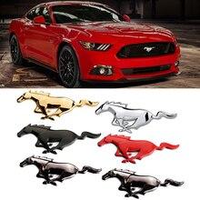 Car Front Grille Emblem For Ford Mustang V6 V8 GT350 GT500 GT Mondeo Ecosport Focus 2 3 Explorer Fusion ST Exterior Modification