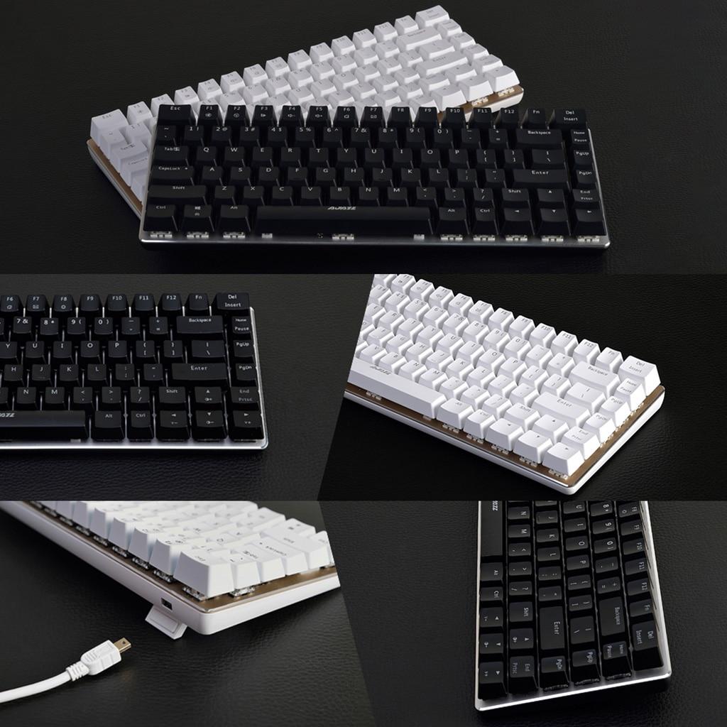AJAZZ RGB Mechanical Keyboard Mini 82 Keys Layout Blue Black Switches Wired