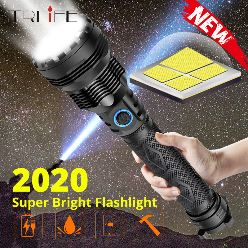 2020 Newest Quad-core Most Powerful LED Flashlight XLamp XHP70.2 XPH50.2 Zoomable 3 lighting modes LED Torch Use 26650 for Camp