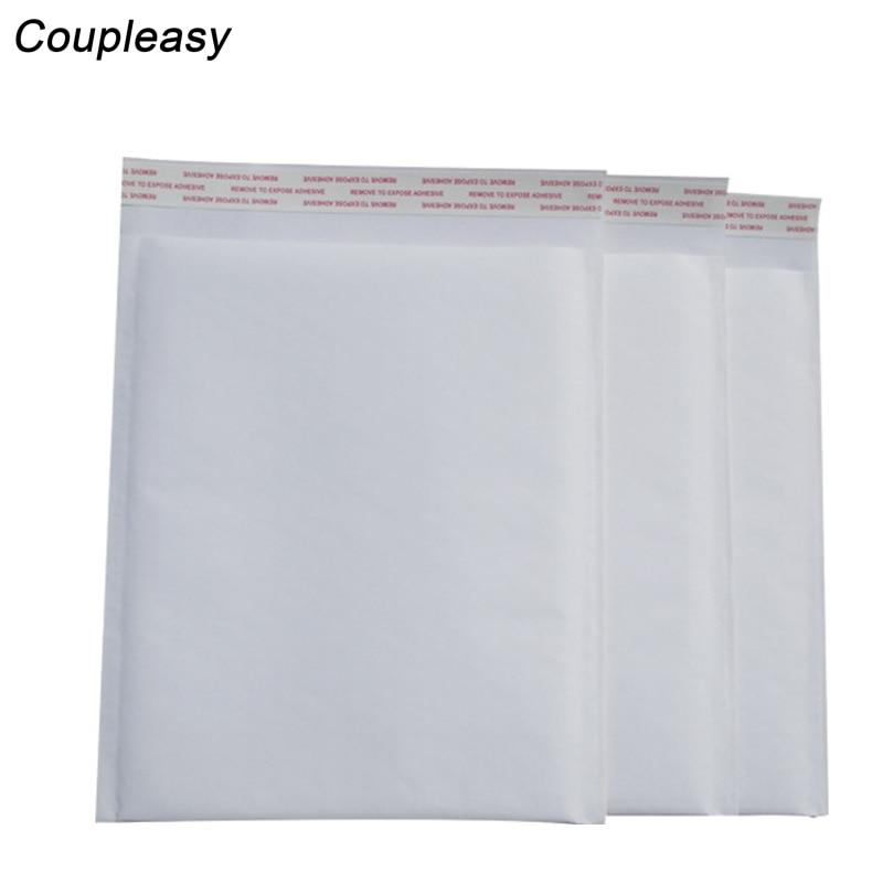 100 pièces en gros blanc bulle enveloppe étanche bulle Film sac Kraft papier enveloppe rembourré Mailers expédition courrier sac 6 taille