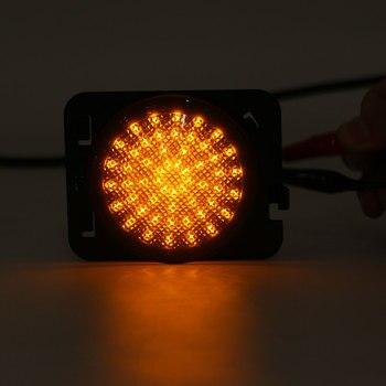 Hot Dynamic light Smoke Lens Yellow LED Turn Side Light Signal Indicator For jeep for Wrangler JK 2007 2008 2009 2010 2011 2012-