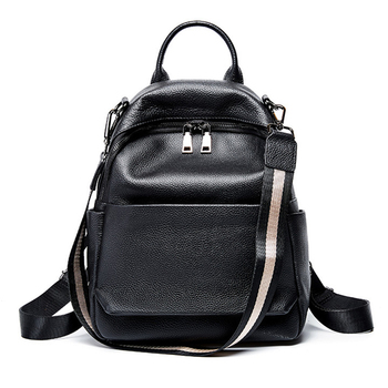 Genuine Leather travel schoolbag student backpack fashion real leather travel backpack girl notebook female backpack travel bag